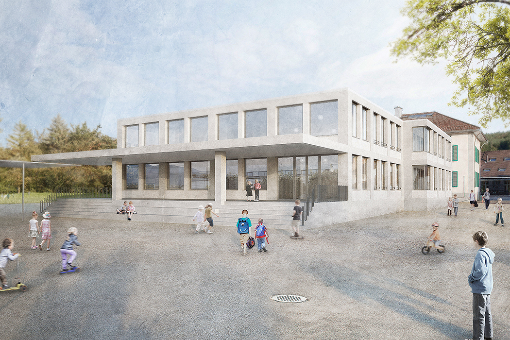 Wettbewerb Neubau Schulhaus, Kestenholz